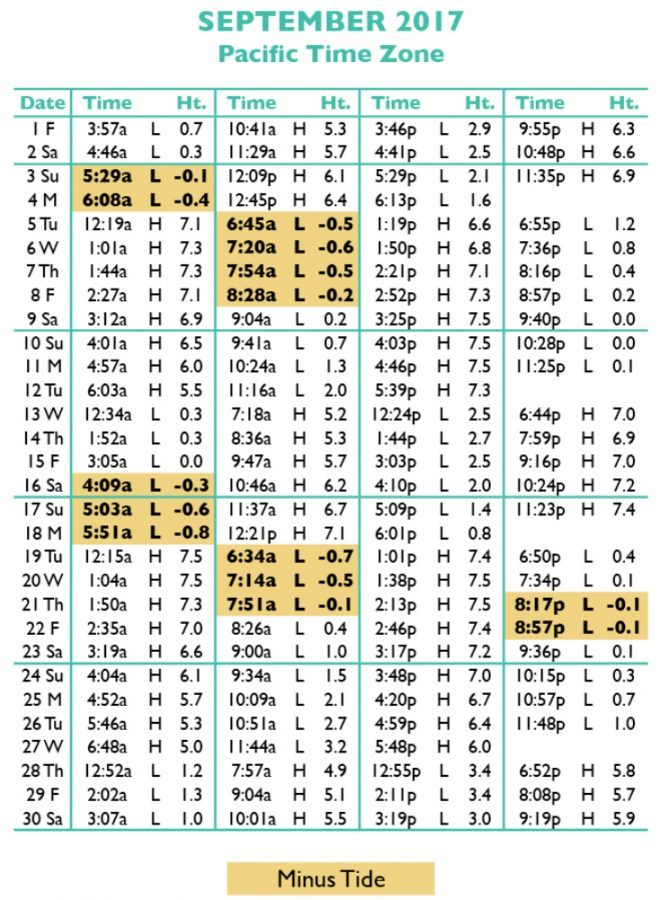 Tide tables in seaside oregon 39 s favorite vacation destination for Fishing tide charts