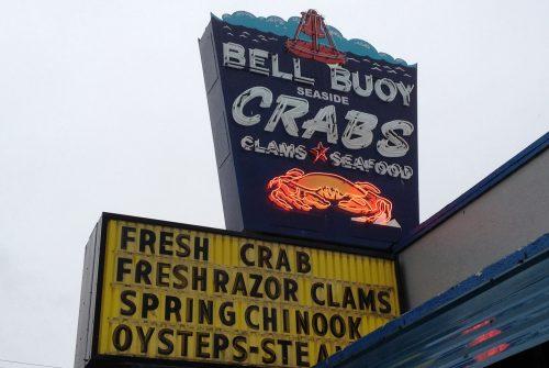 Bell Buoy of Seaside offers fresh seafood and features ready-to-eat items in an adjacent restaurant.