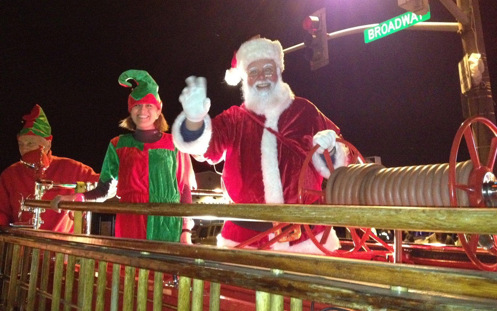 The Seaside Parade of Lights is one of many holiday festivities